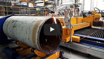 Unique combination: Pipe cutting with robot technology