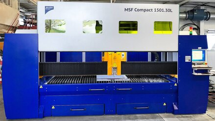 MSF Compact: 2D fiber laser with a working area of 1,500 x 3,000 mm