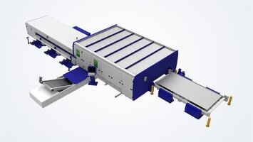 Combination solution: Automated sheet, pipe and profile handling