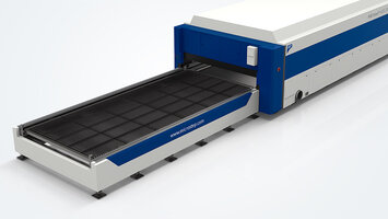 Automatic shuttle table with sectional suction system