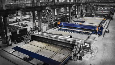Together with the Finnish cooperation partner Pemanek Oy, MicroStep supplies the cutting technology for fully automated production lines for panel processing in shipbuilding.