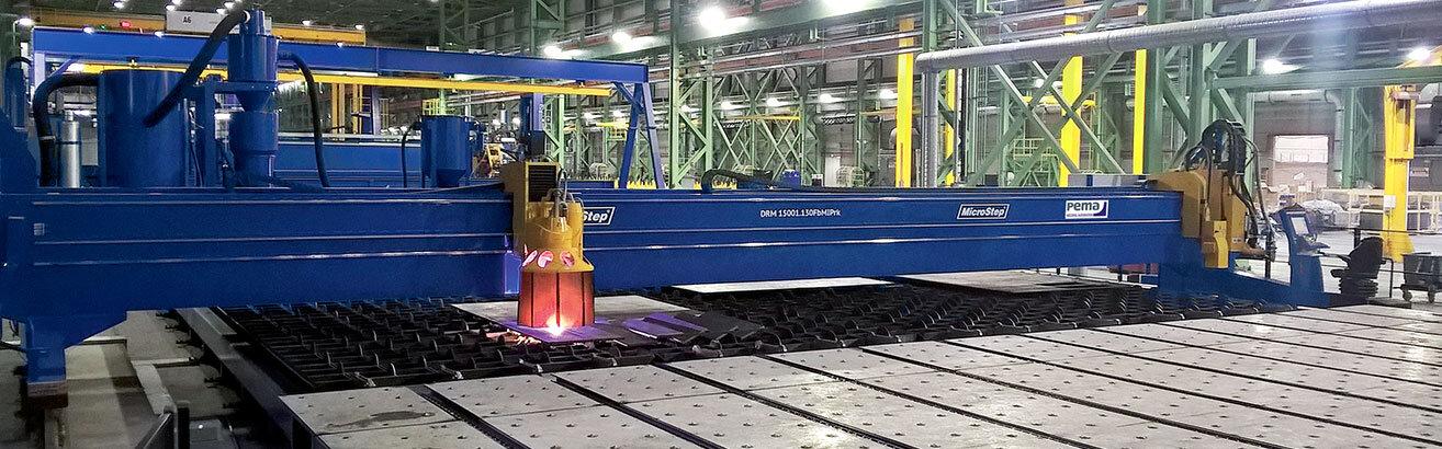 Canadian shipyard builds with plasma cutting system for panel processing from MicroStep